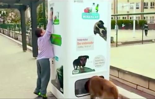 Genijalna ideja: automat za reciklažu koji hrani kuce i mace lutalice