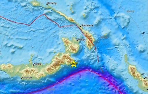 Snažan zemljotres pogodio Papua Novu Gvineju
