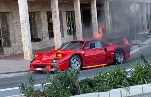 Vozio opušteno po Monaku, a onda mu se Ferari odjednom ZAPALIO! (VIDEO)