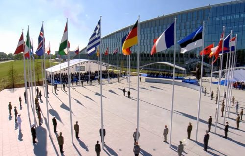 Brisel, Nato, zastave
