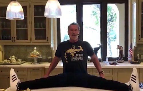 Švarceneger pokazao kako se razgibava na kuhinjskom stolu, a onda... (VIDEO)