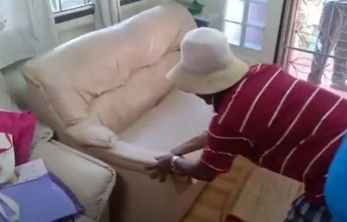 Kauč je žuljao, a onda je shvatila da se u njemu krije nešto najgroznije (VIDEO)