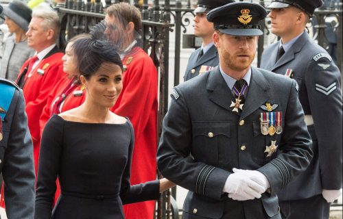 January 1, 2012 - London, London, United Kingdom - The Duke of Sussex and Meghan, Duchess of Sussex attends a service at Westminster Abbey to make the100th anniversary of the Royal Air Force at Westminster Abbey in London, Britain on July 10, 2018., Image: 377434758, License: Rights-managed, Restrictions: * UK Rights OUT *, Model Release: no, Credit line:
