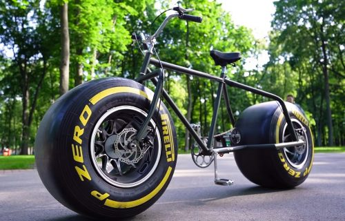 HIT! Napravio bicikl sa F1 Pirelli gumama, pa se provozao parkom (VIDEO)
