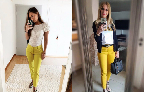 ŽUTE pantalone su potpuni HIT ove sezone! Evo kako da ih nosite, a da ne pogrešite (FOTO)