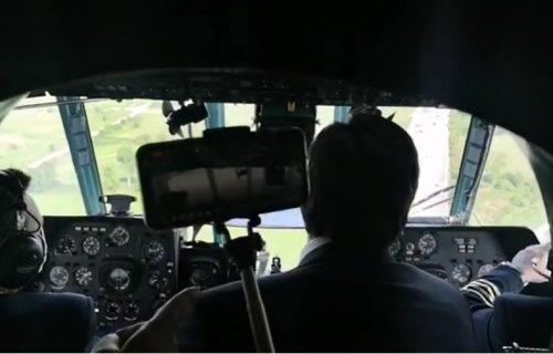Vučić se obratio iz helikoptera: Obišao radove na izgradnji auto-puta od Sofije do granice sa Srbijom