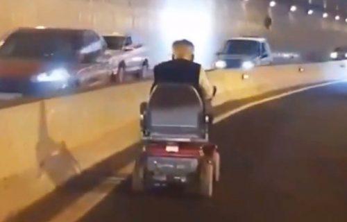 Električnim kolicima ušao u tunel i izazvao haos u saobraćaju (VIDEO)