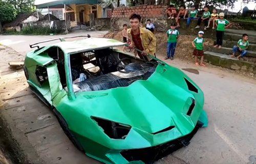 Napravili su Lamborghini od kartona i odlučili da ga isprobaju, evo rezultata (VIDEO)