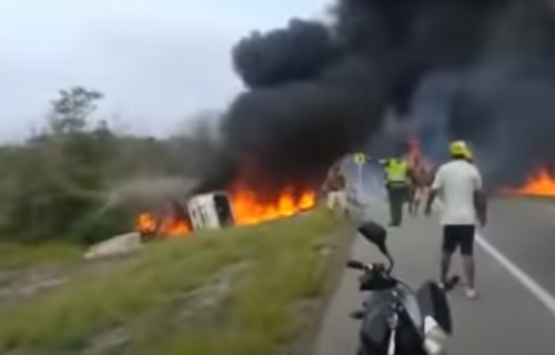 Horor u Kolumbiji! Poginulo sedmoro: Okupili se oko prevrnute cisterne sa gorivom, a onda EKSPLOZIJA