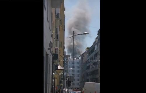 Požar na Vračaru: Goreo stan na šestom spratu (FOTO)