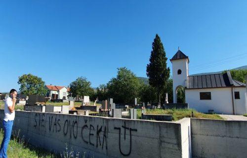 """""""Sve vas ovo čeka"""": Ustaški simboli osvanuli na pravoslavnom groblju (FOTO)"""