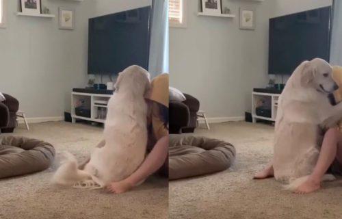 Zastaće vam knedla u grlu: Pas nežno TEŠI vlasnicu koja pati od depresije (VIDEO)