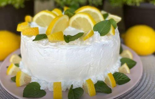 Brzo i lagano: Osvežavajuća limun torta (RECEPT+VIDEO)