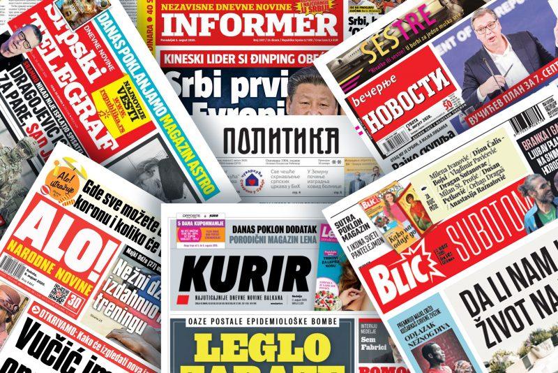Pogledajte NASLOVNE STRANE novina za 20. oktobar: Dan D za novu vladu, Srbija ušla u crvenu zonu…(FOTO)