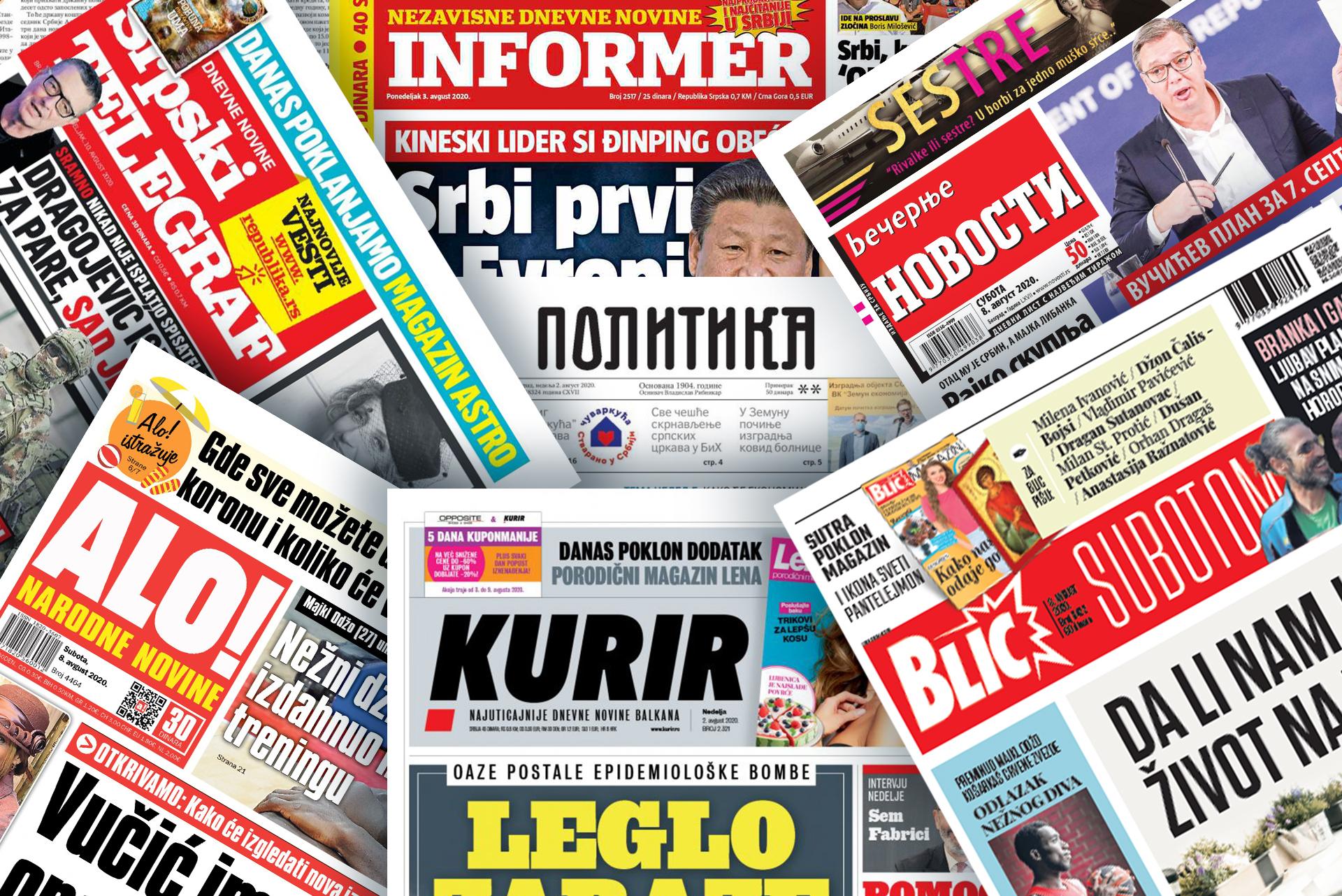 Naslovne strane novina