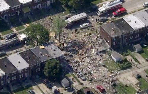 Eksplozija gasa raznela tri kuće u Baltimoru: Ima poginulih, ljudi zatrpani pod ruševinama (VIDEO)