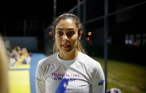 SRPSKE ŠAMPIONKE: Tijana Bogdanović i Milica Mandić motivisano treniraju i bez turnira