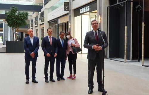 Vučić obišao završne radove Galerije Belgrade: Ponosan sam na naše najveće gradilište
