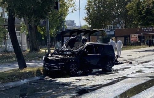 Džip, eksplozija,Novi Beograd