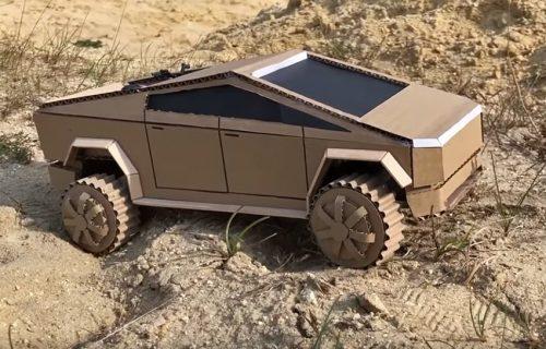 Pogledajte Cybertruck od KARTONA u opasnoj off-road vožnji! (VIDEO)