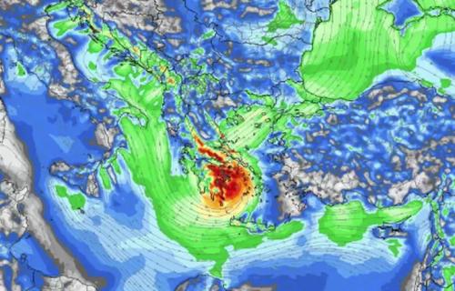 Oluja će potući CEO Balkan: JANIS udara na Grčku snažno, stanovništvo uplašeno!