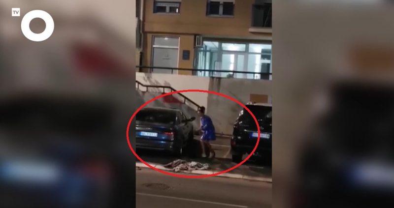 Skandal! Pogledajte kako srpska pevačica ŠTANGLOM lupa automobile u vlasništvu pukovnika policije