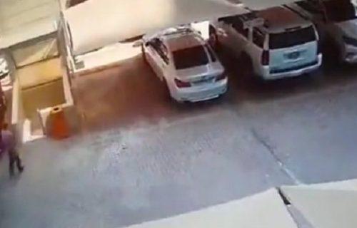NIJE poginuo! Čovek ušao u podzemnu garažu kada je sve oko njega počelo da se RUŠI (VIDEO)