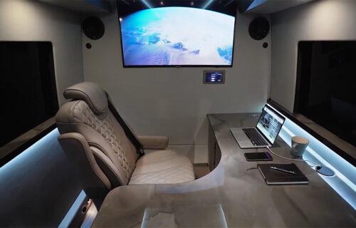 Zavirite u luksuznu kancelariju na točkovima: Samo za dubok džep (VIDEO)