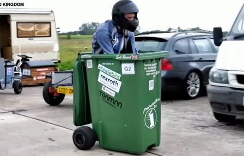 Ovo je NAJBRŽA kanta za smeće, pogledajte kako grmi stazom (VIDEO)
