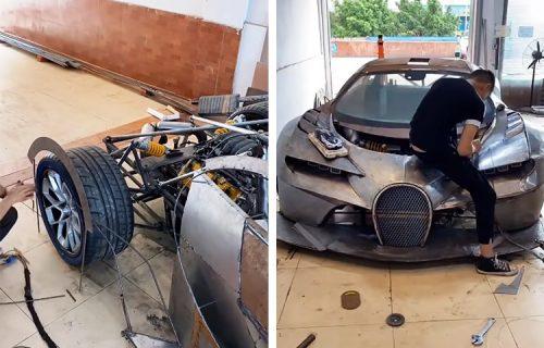 Svojim rukama napravio Bugatti! Nije imao karbon, pa je iskoristio metalne ploče (VIDEO)