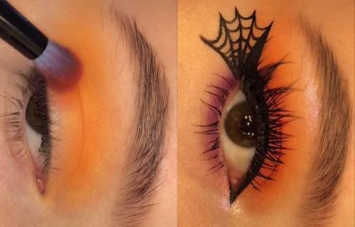 Šminka za Noć veštica: Postignite FATALAN izgled uz paukovu MREŽU na očima (VIDEO)