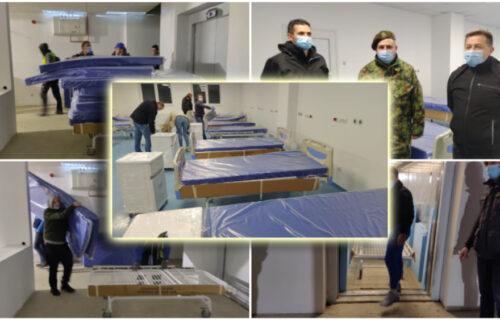 Ovako izgleda NAJNOVIJA kovid bolnica u Srbiji! Komunalni milicajci uneli krevete u završene sobe (FOTO)