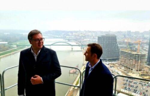Pozdrav sa 26. sprata Kule Beograd: Predsednik Vučić pokazao kako će izgledati lepotica prestonice (FOTO)