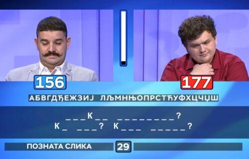 Kakav šok u Slagalici: Stefan je dugo gledao u TRI SLOVA, a onda ostavio protivnika BEZ TEKSTA (VIDEO)