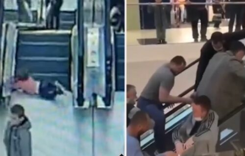 Neviđena drama na pokretnim stepenicama: Detetu se zaglavio prst, 30 ljudi skočilo u pomoć (VIDEO)