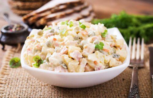 Ruska salata- BRZI recept sa zamrznutim povrćem