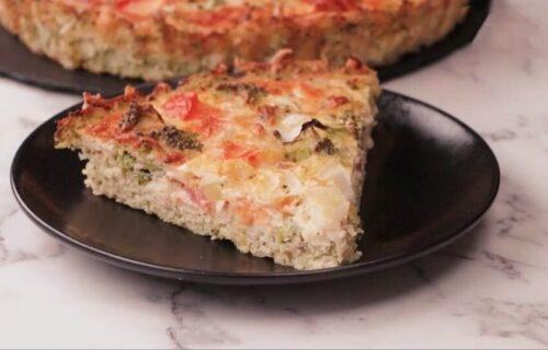 Večera BEZ trunke brašna: Vegetarijantski TART sa brokolijem, krompirom i paradajzom (RECEPT+VIDEO)