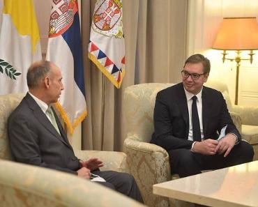 """""""Kipar je iskren prijatelj"""": Vučić se sastao sa ambasadorom Elijadisom"""