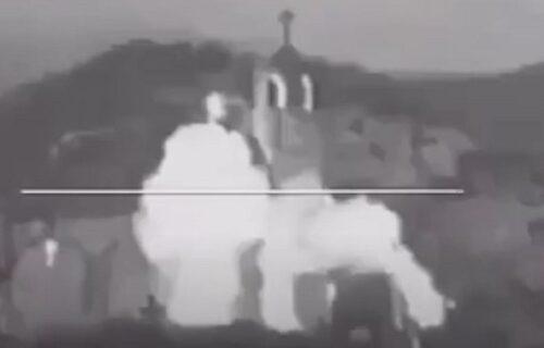 Isplivao JEZIV SNIMAK: Albanci dižu u vazduh SRPSKU srednjovekovnu crkvu (VIDEO)