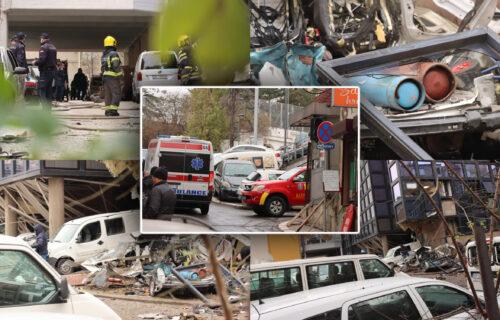 """Radnik je raznesen, detonacija je bila kao BOMBA"": Strašne reči očevidaca ispred RTS-a (FOTO) (VIDEO)"