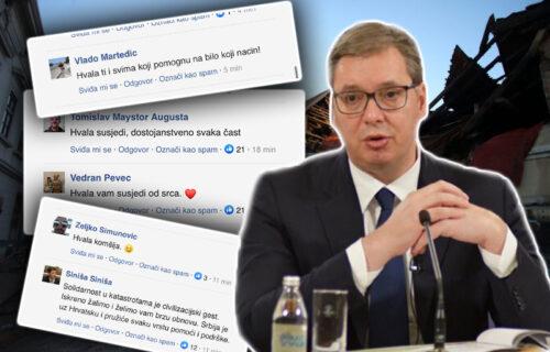 Vučićeva pomoć GLAVNA VEST u regionu: Hrvati u komentarima zahvaljuju srpskom predsedniku (FOTO)