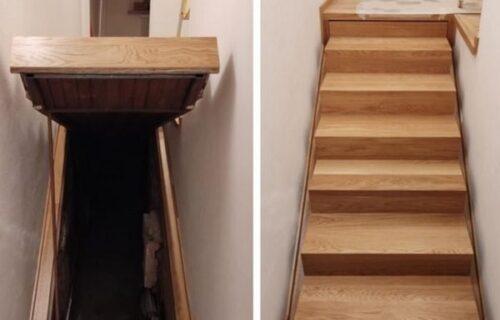 Novi vlasnici kuće u hodniku otkrili TAJNI PROLAZ: Podigli stepenice, a onda ZANEMELI pred mrakom (FOTO)