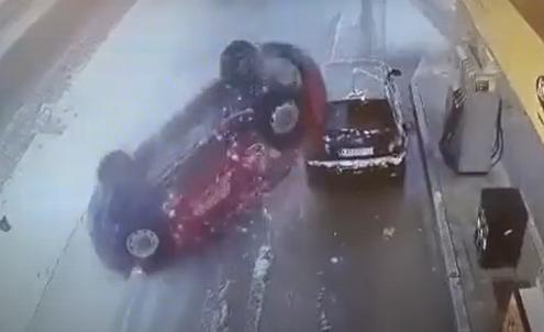 Izbegnuta VELIKA EKSPLOZIJA na pumpi: Pogledajte snimak nesreće u Karlovcima (VIDEO)