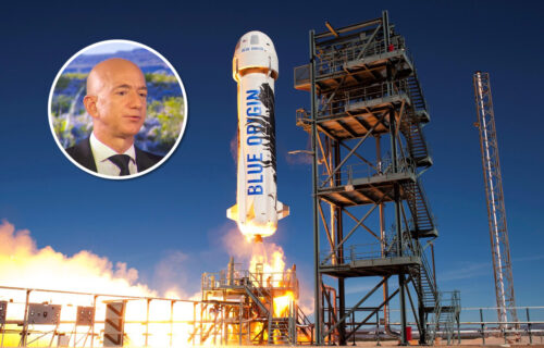 U čemu je ovo Bezos leteo u svemir? Izgled rakete oduševio svet, svi su POPADALI od smeha