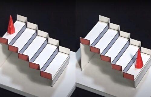 Zavrteće vam mozak! Da li se piramida nalazi na VRHU ili na DNU stepenica? (VIDEO)