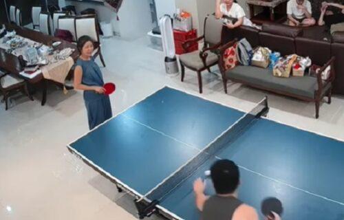 Kakav maler: Igrao stoni tenis sa majkom, pa slučajno SESTRI polomio nos (VIDEO)