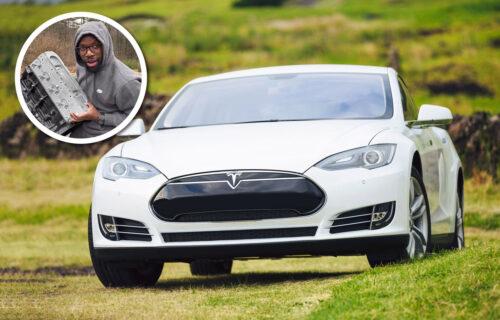 """Najluđa prepravka! Teslin Model S """"pojačan"""" V8 benzincem (VIDEO)"""