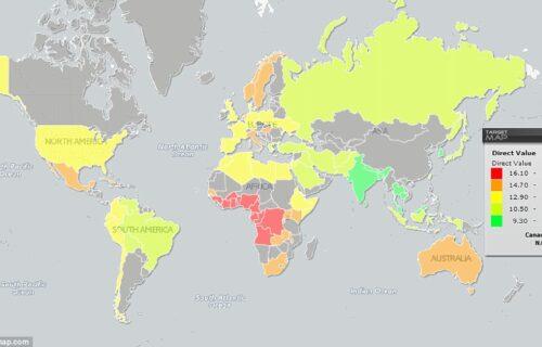 Najčudnija karta sveta: Gde žive NAJOBDARENIJI muškarci, a gde oni ispod PROSEKA? (MAPE)
