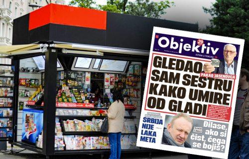 Danas u novinama Objektiv: Potresna ispovest logoraša, Džej nije stigao na pregled (NASLOVNA STRANA)