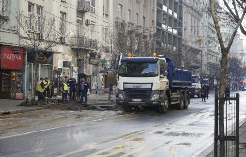 KOLAPS u centru Beograda: Najveće gužve u dve ulice zbog havarije na vodovodnoj mreži